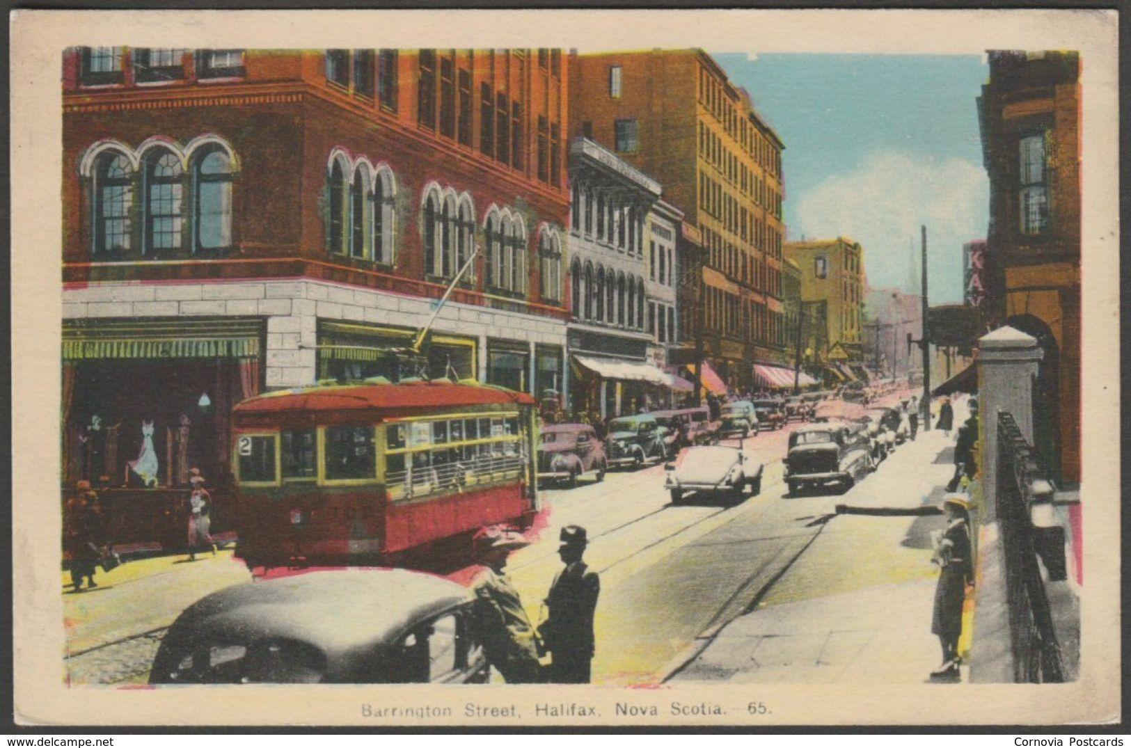 Barrington Street, Halifax, Nova Scotia, C.1930s - Photogelatine Engraving Co Postcard - Halifax