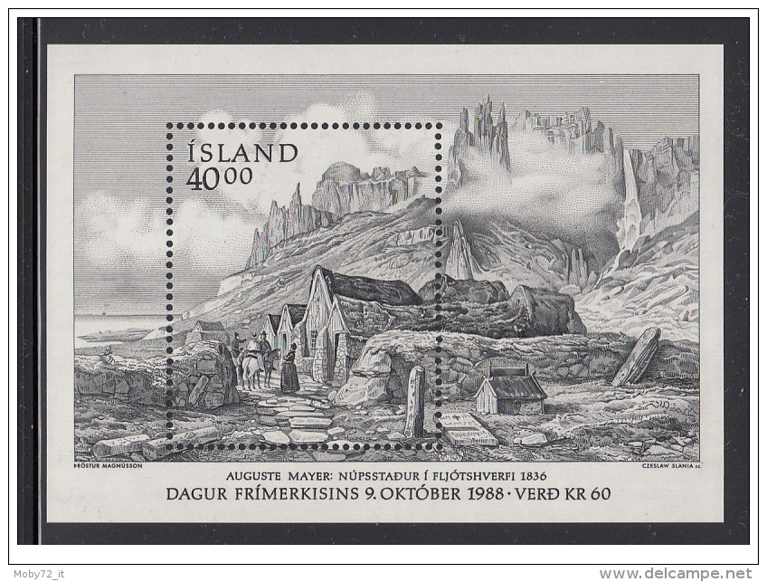 Islanda - 1988 - Nuovo/new MNH - Giornata Del Francobollo - Mi Block N. 9 - Nuovi