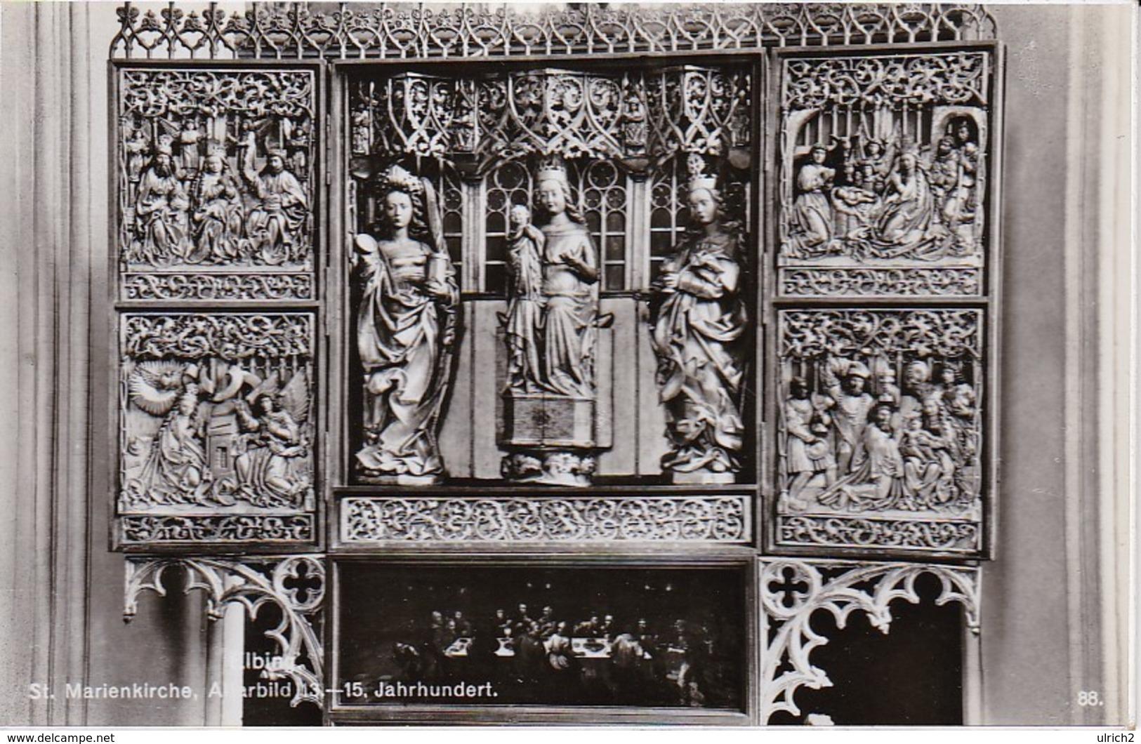 AK Elbing Elbląg - St. Marienkirche - Altarbild (32266) - Ostpreussen