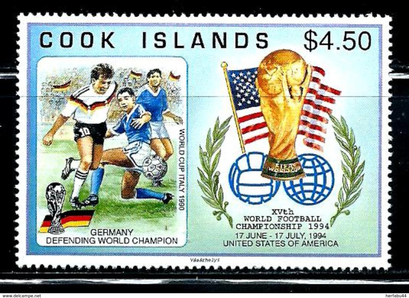 """Cook Islands     """"1994 World Cup Soccer""""      Set    SC# 1148    MNH    SCV$ 8.00 - 1994 – USA"""