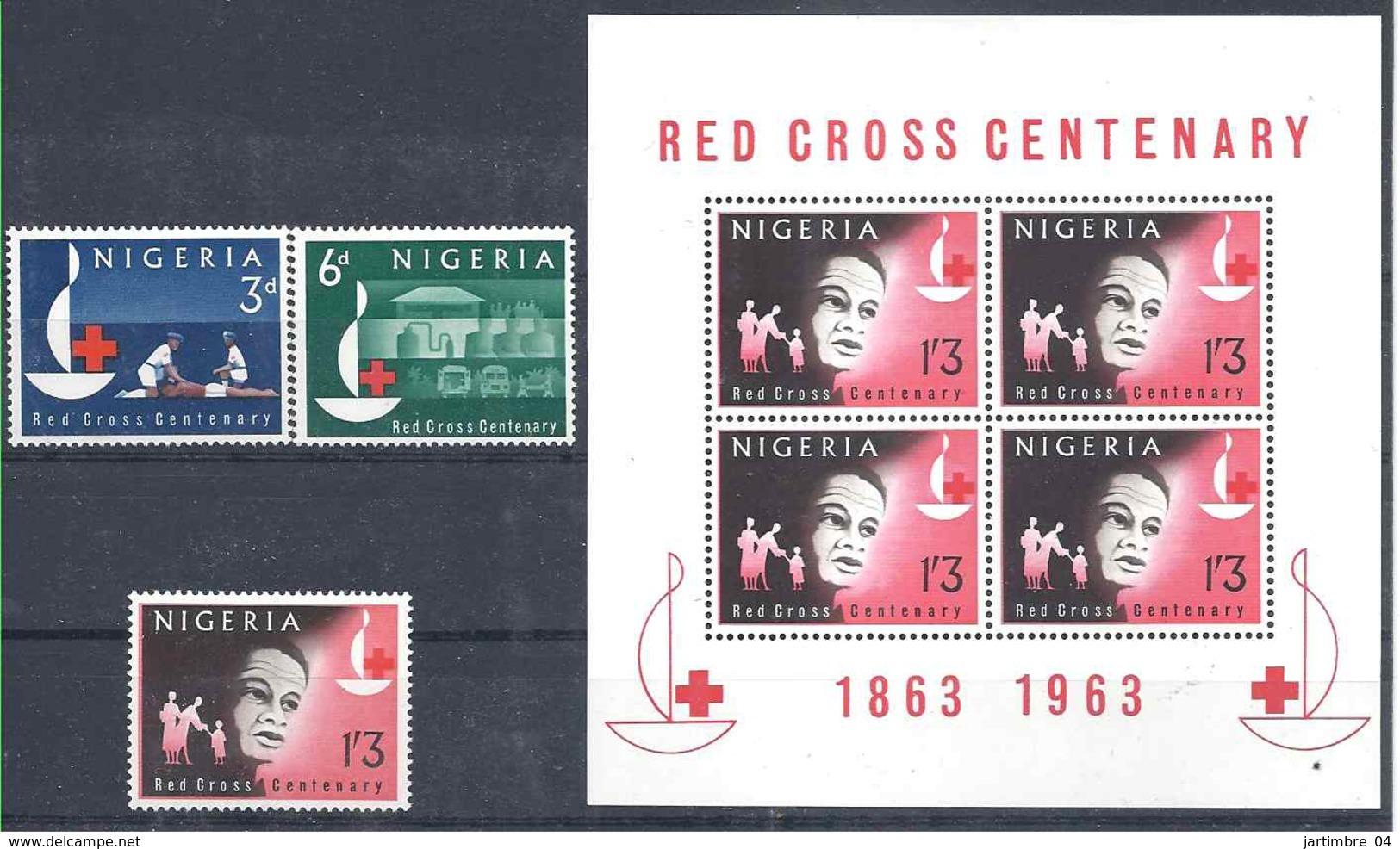 1963 NIGERIA 143-45+ BF 2**  Croix-rouge - Nigeria (1961-...)