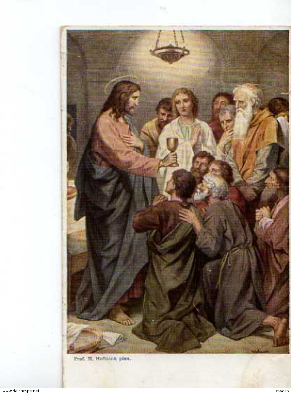 Jesus  Et Ses Disciples, Prof H Hofmann Pinx. - Jésus
