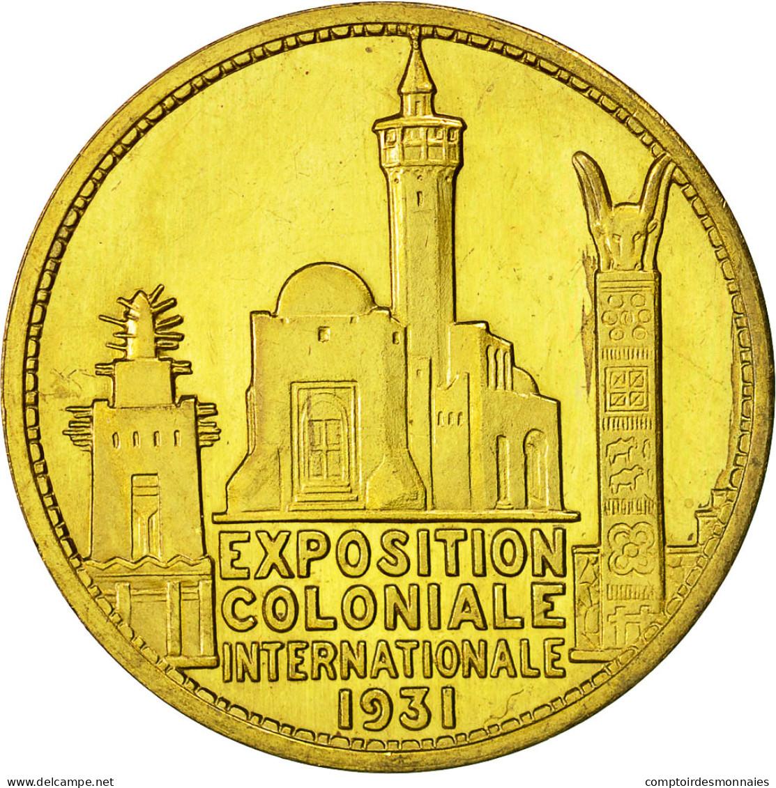 France, Medal, Exposition Coloniale, Inauguration Par G.Doumergue, 1931, SPL - France
