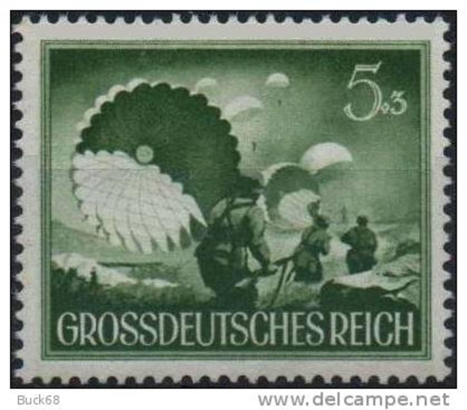 ALLEMAGNE DEUTSCHES III REICH 793 ** Militaria : Soldat Parachutiste Parachute Fallschirm - Ungebraucht