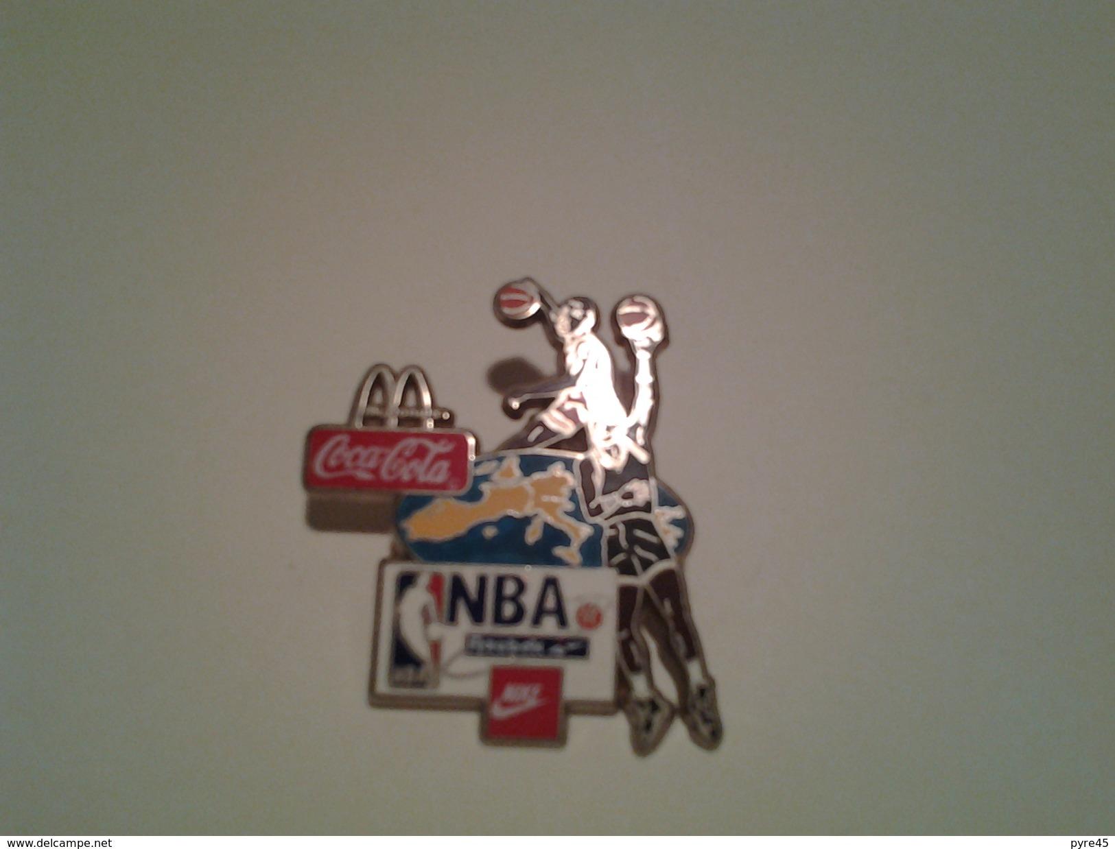 "Pin's Coca-Cola "" NBA Reebock Nike Mc Donalds "" - Coca-Cola"