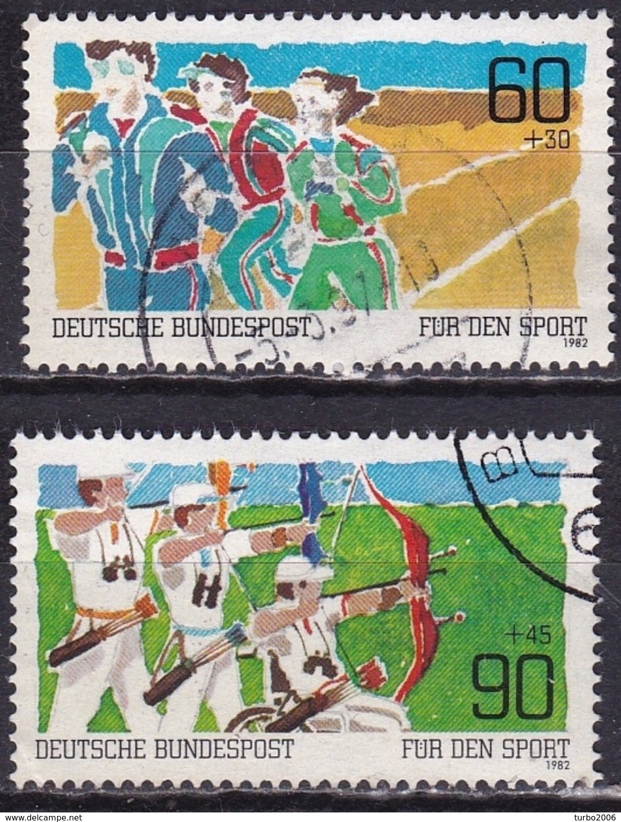BRD 1982 Sporthilfe Kompletter Satz Michel 1127 / 1128 - [7] West-Duitsland