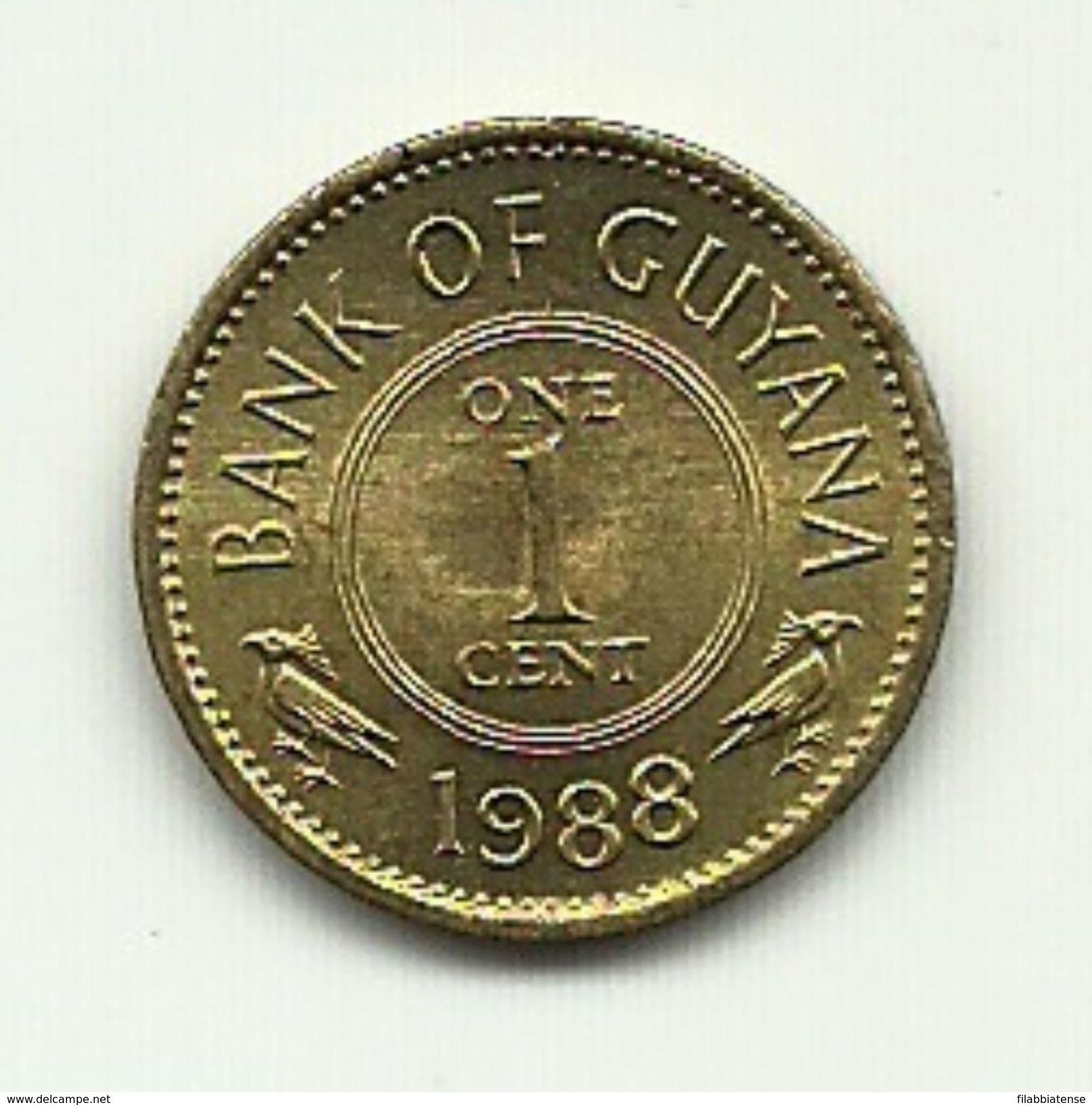 1988 - Guyana 1 Cent, - Guyana