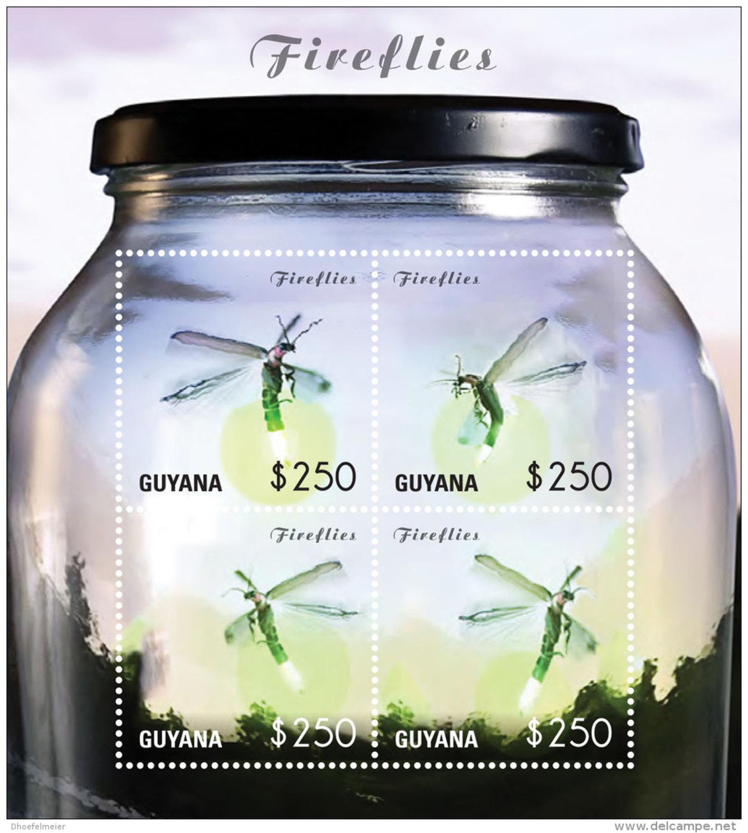 GUYANA 2014 ** Fireflies Glühwürmchen M/S - OFFICIAL ISSUE - DH9999 - Insekten
