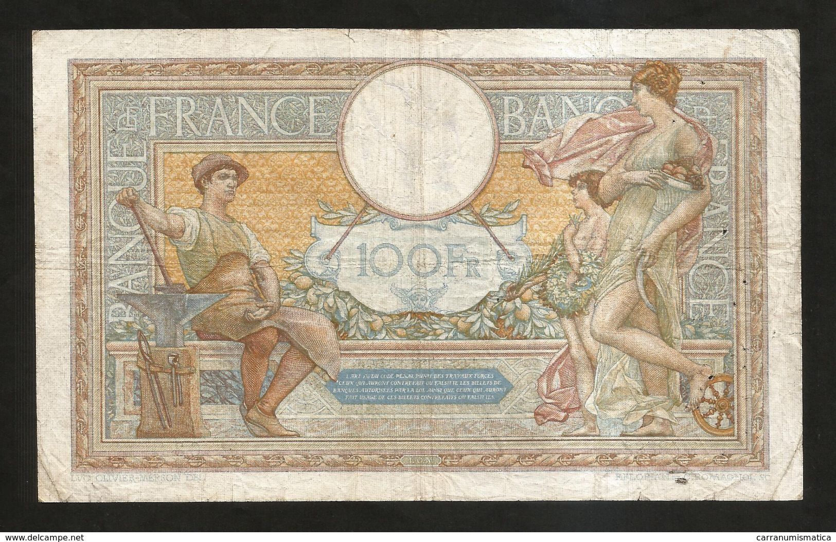 "FRANCE - BANQUE De FRANCE - 100 FRANCS ""LUC OLIVIER MERSON"" (DQ. 4 - 7 - 1935) - 1871-1952 Antichi Franchi Circolanti Nel XX Secolo"