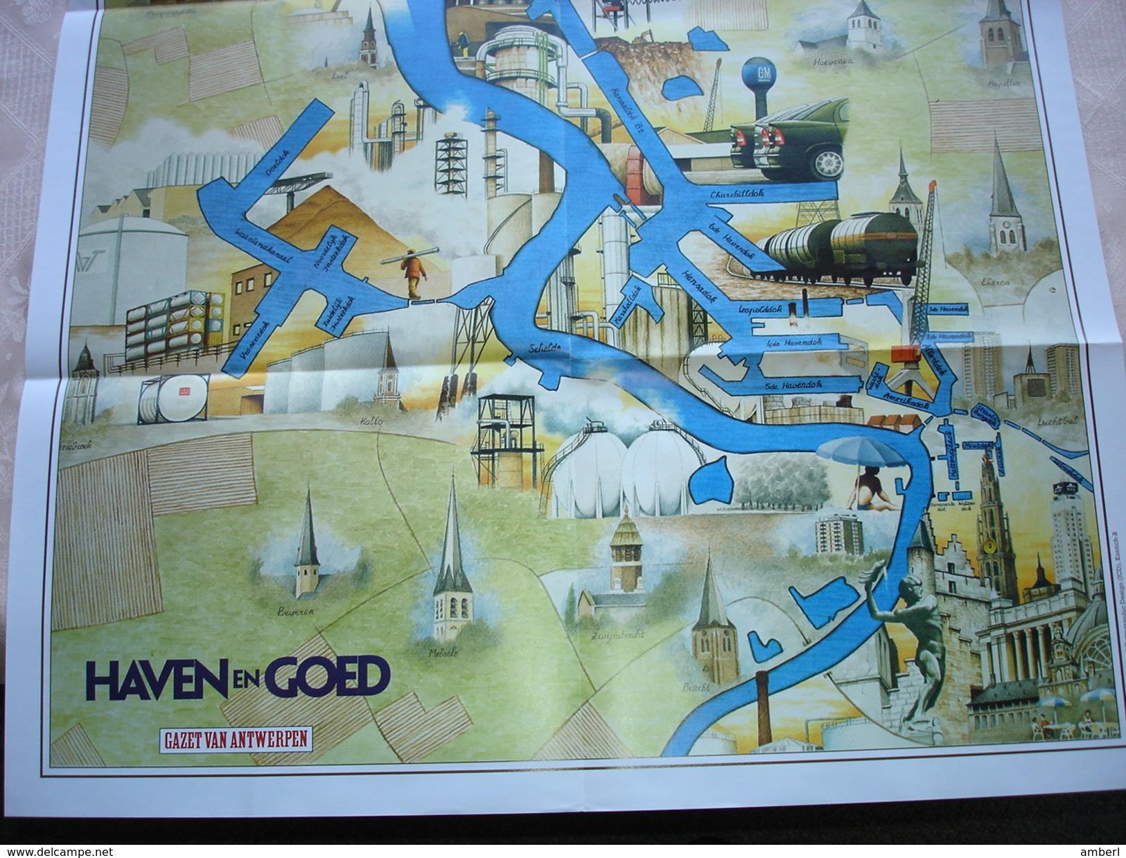 """Antwerpen """"Haven En Goed """" 6 Bijlagen Over De Haven Van Antwerpen Plus Groot Havenplan - Bateaux"""