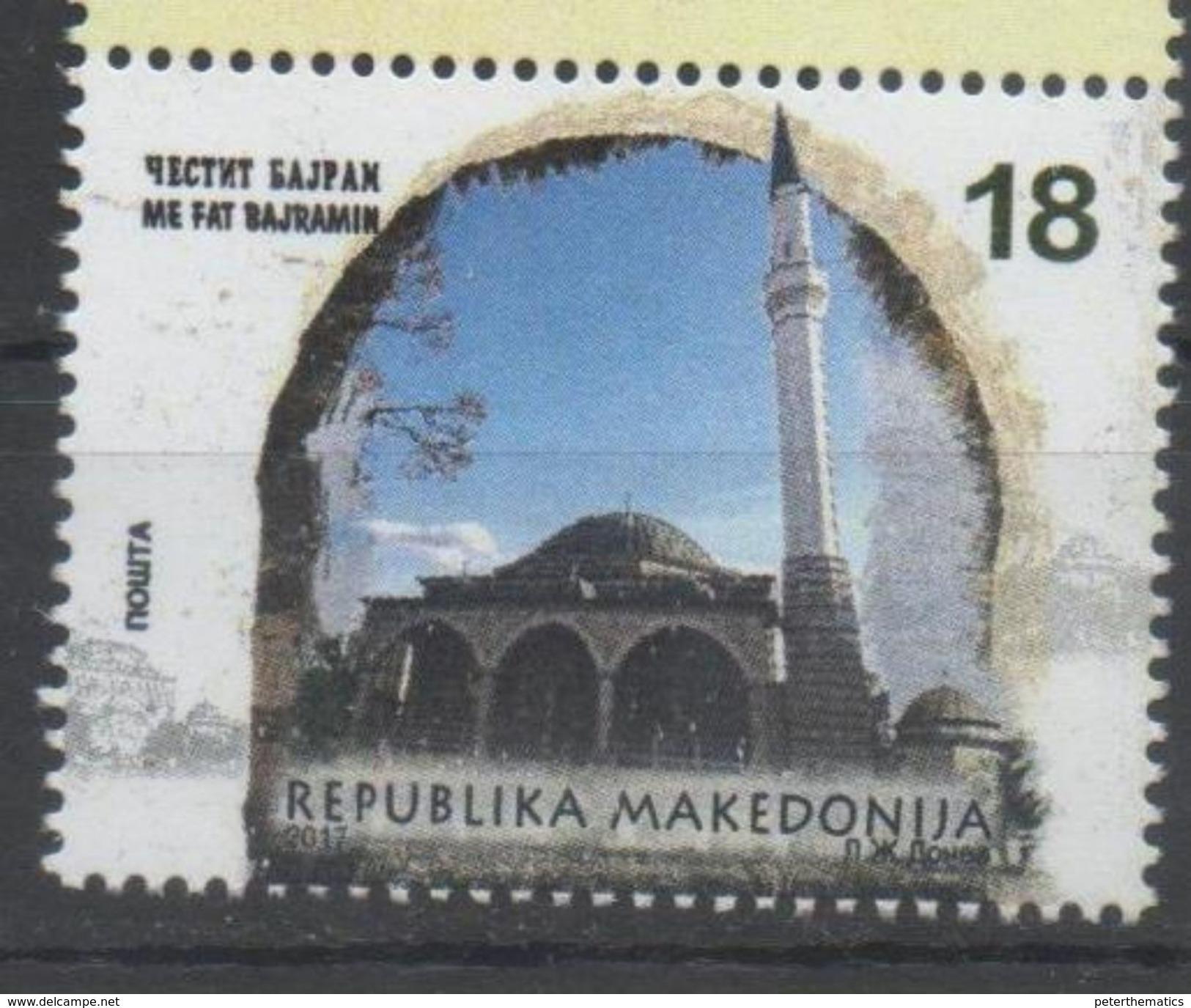 MACEDONIA, 2017,  MNH, BAYRAM, MOSQUES, 1v - Mosques & Synagogues