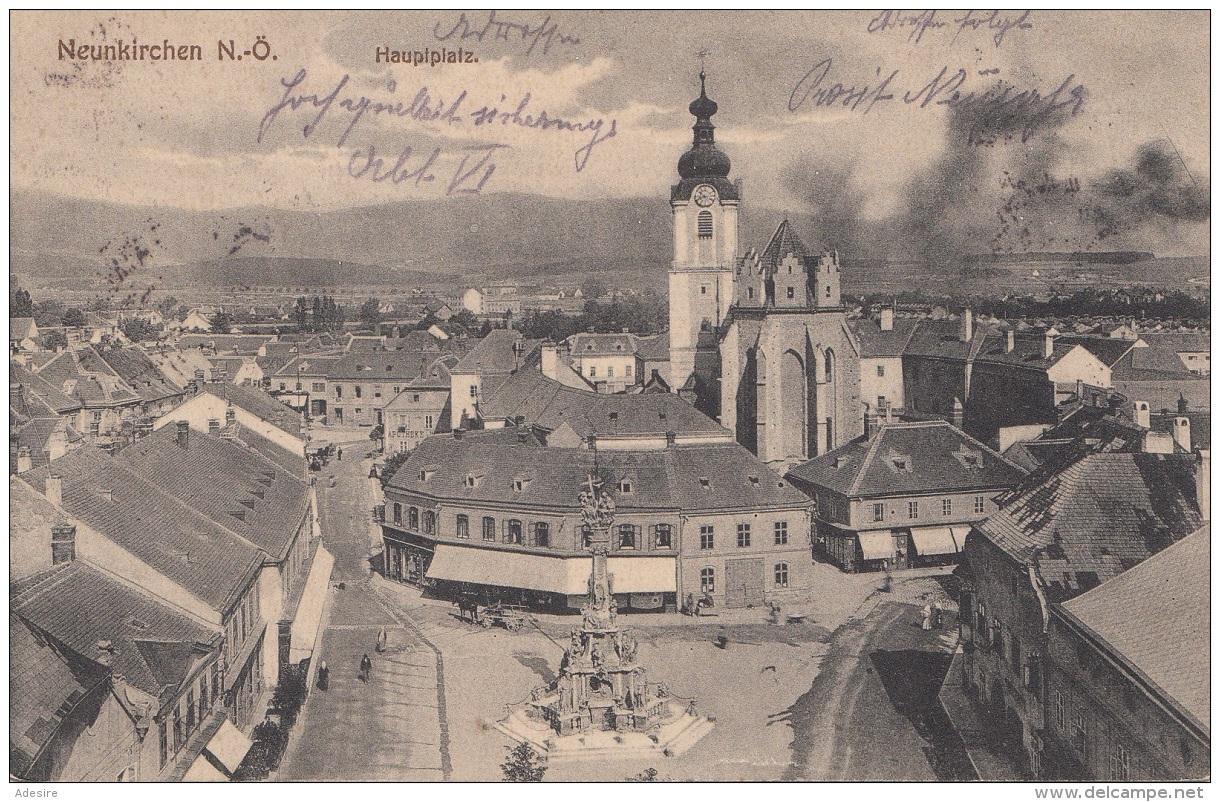 NEUNKIRCHEN (NÖ) - Hauptplatz, Gel.191?, Gute Erhaltung - Neunkirchen