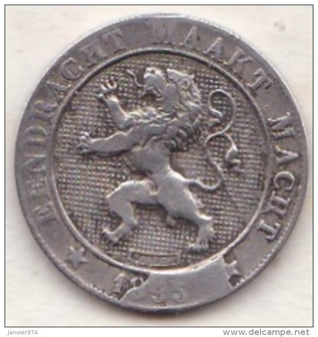 BELGIQUE. 5 CENTIMES 1895. LEOPOLD II .légende Flamande . Fautée, Erreur ,coin Bouché - 1865-1909: Leopold II