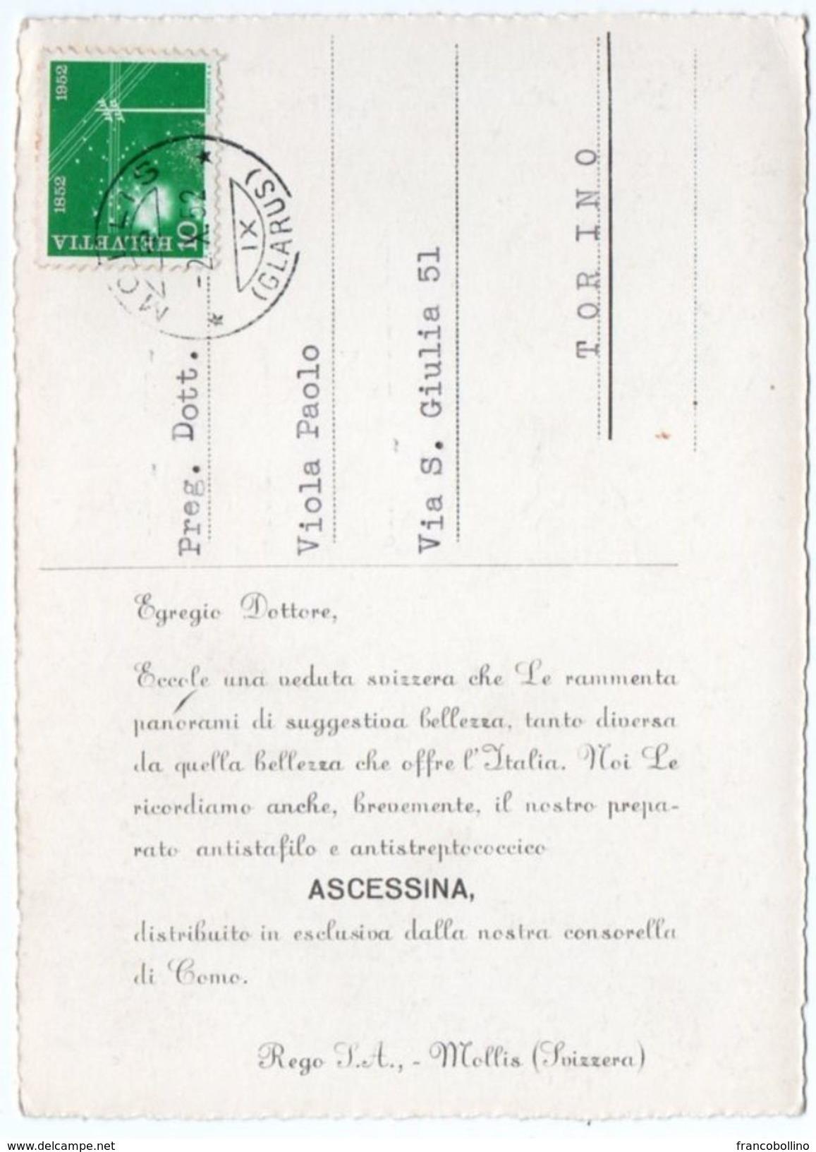 DEAR DOCTOR TYPE PUBL. ASCESSINA / REGO S.A.- SWITZERLAND - AMDEN ST.G. - Salute