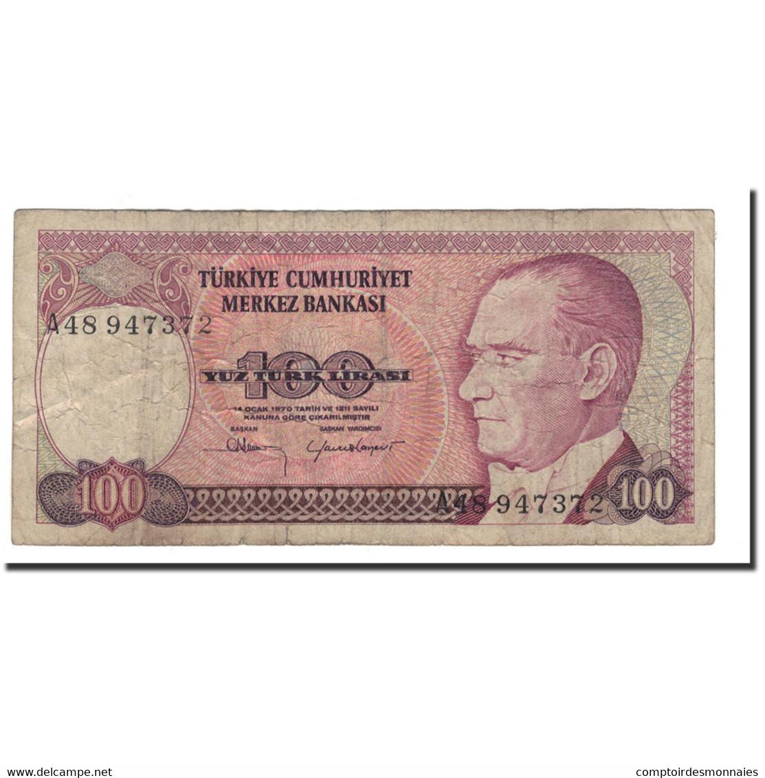 Turquie, 100 Lira, 1984, 1970-01-14, KM:194a, B - Turquie