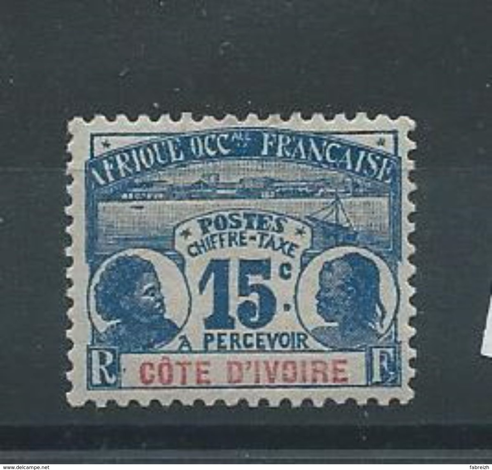 COTE D'IVOIRE  Taxe N°3 *  T.b - Unused Stamps