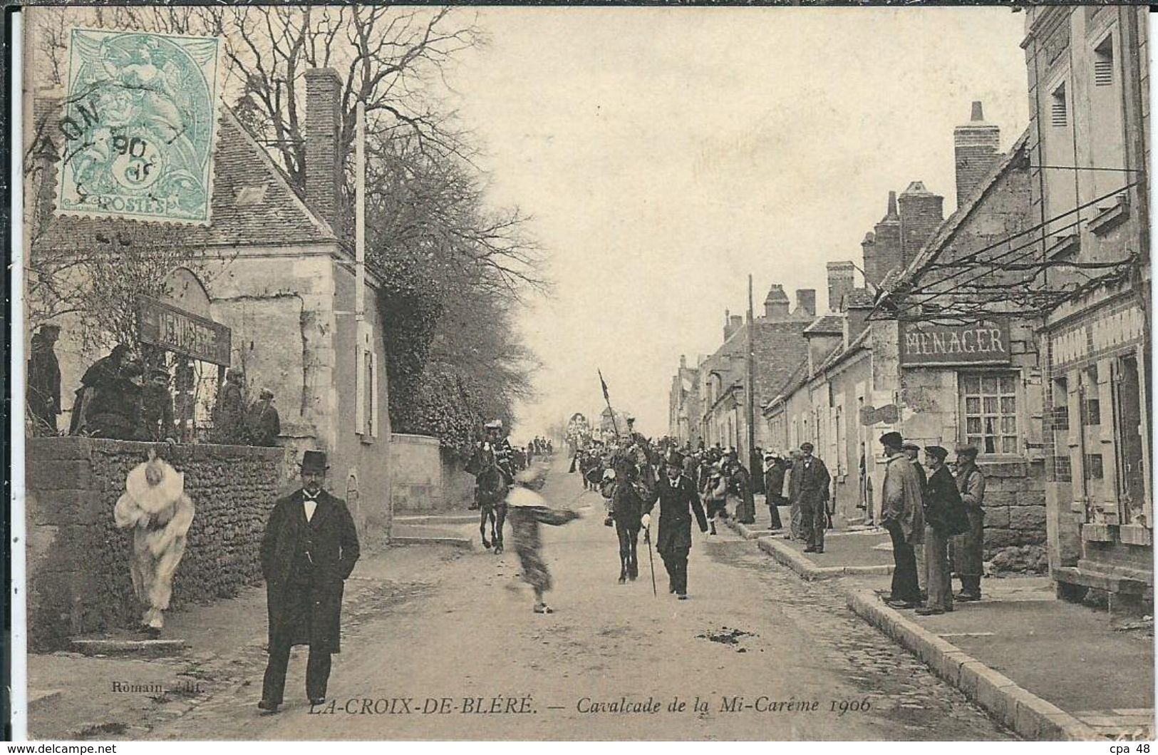 Indre Et Loire : Bléré, La Croix, Cavalcade De La Mi-Careme 1906 - Bléré