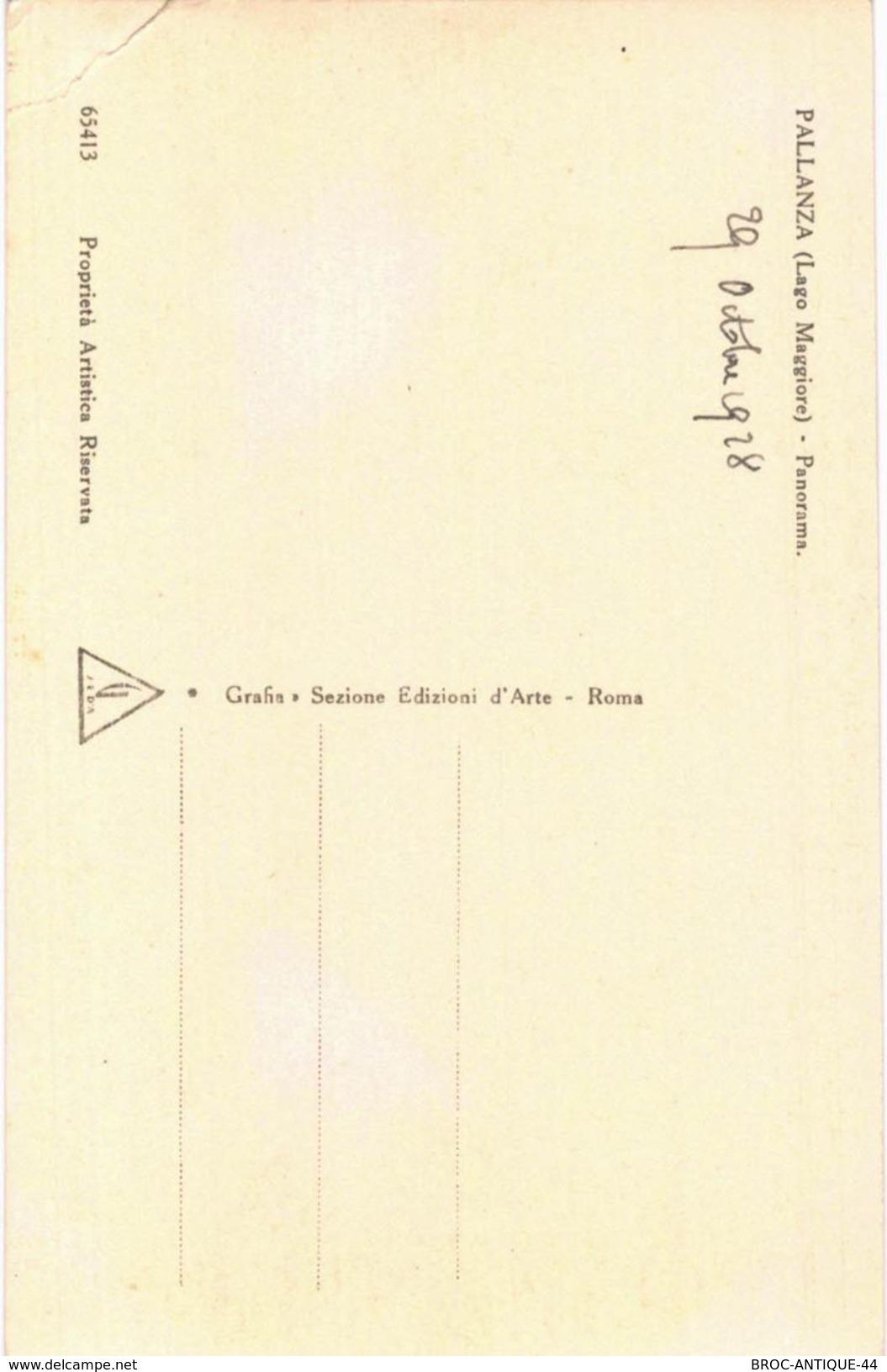 CPA N°16771 - LOT DE 4 CARTES LAGO MAGGIORE - PALLANZA - PANORAMA - Verbania