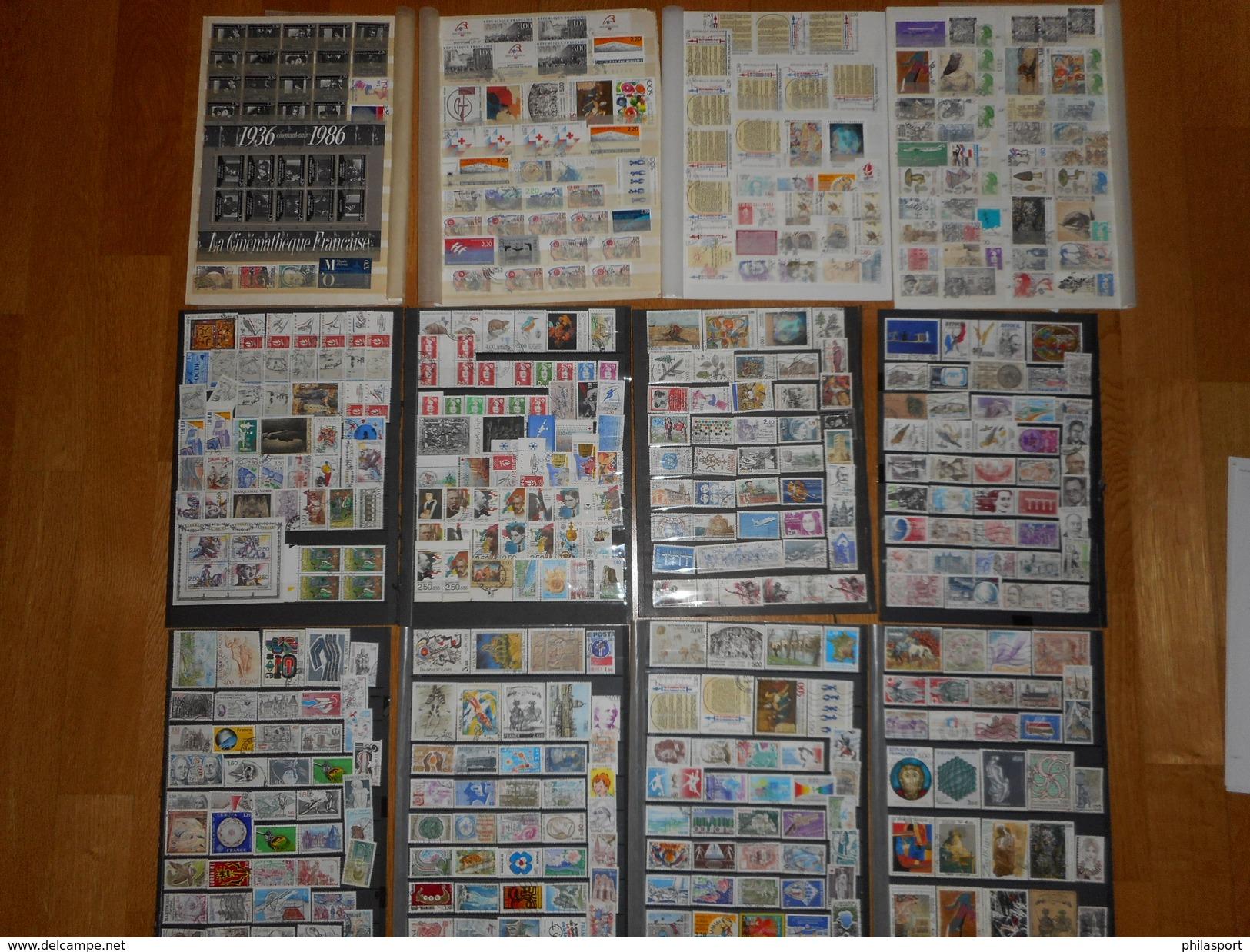 France  Collection Années Complètes 1982/1993 Oblitérés  3 Scans + De 1500 Timbres - Sammlungen