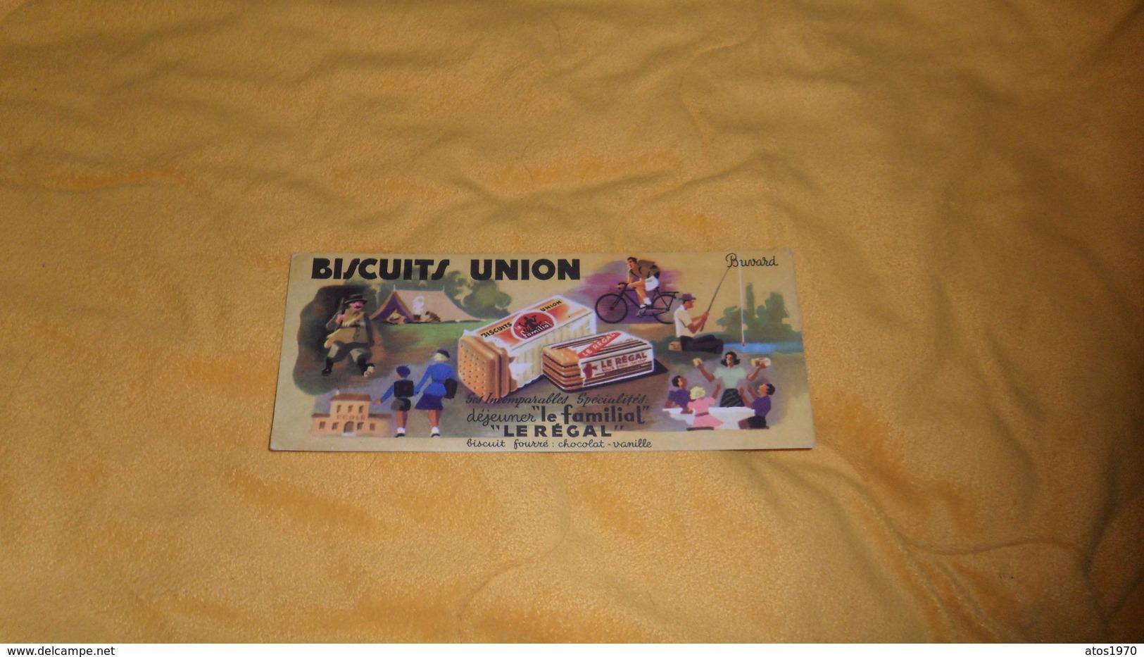 BUVARD ANCIEN DATE ?. / BISCUITS UNION LE FAMILIAL LE REGAL... - Buvards, Protège-cahiers Illustrés