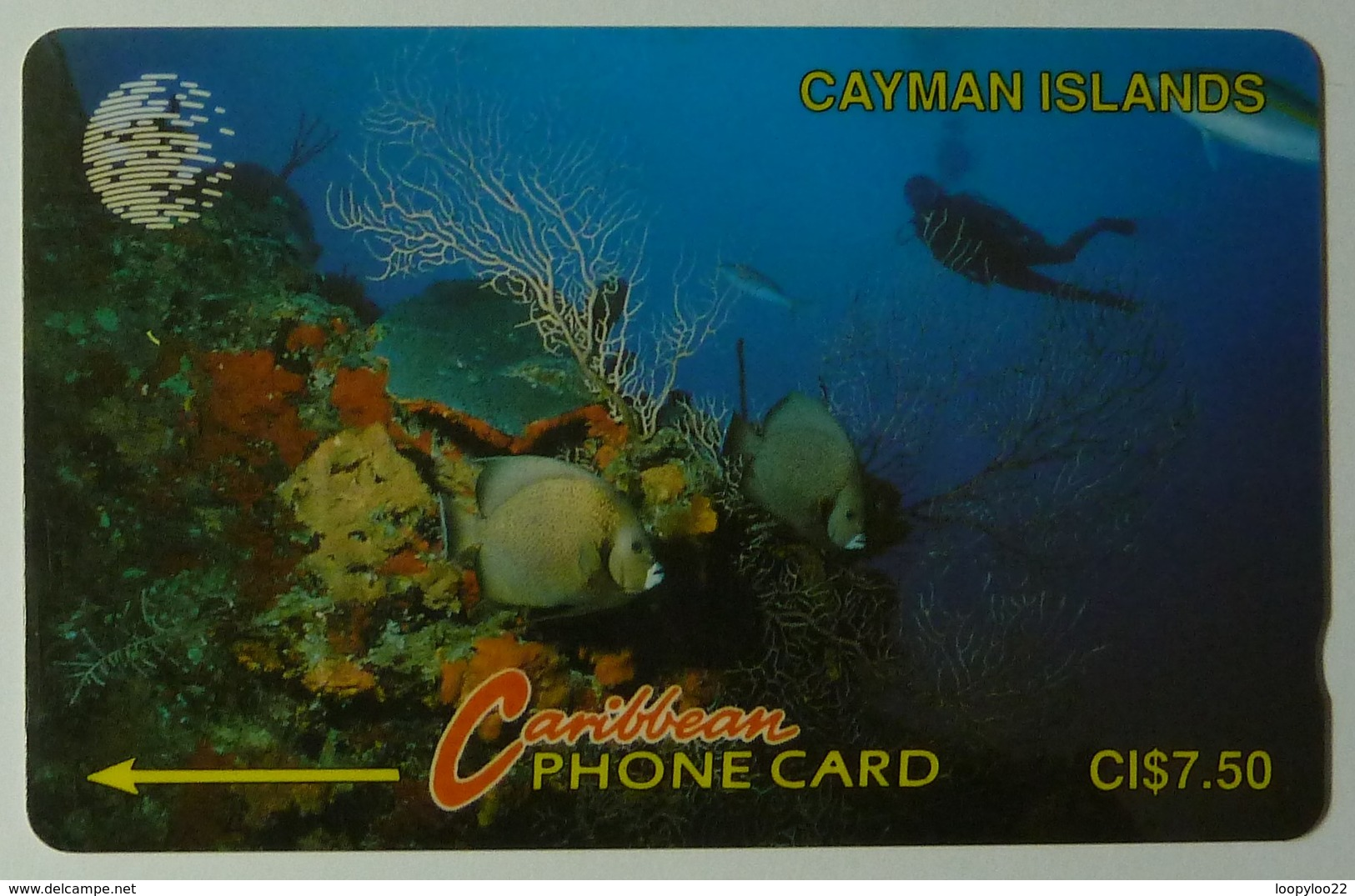 CAYMAN ISLANDS - GPT - CAY-5A - Underwater - Diver - 5CCIA - $7.50 - Used - Cayman Islands