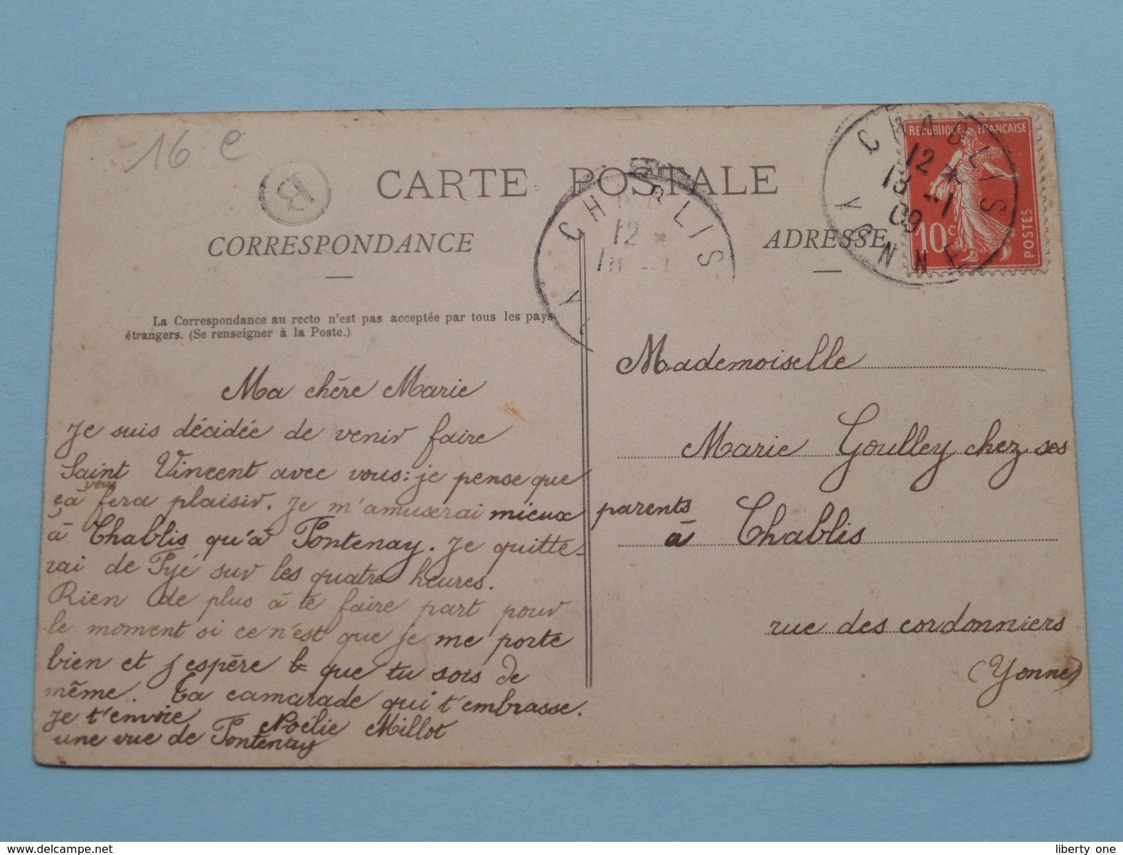 FONTENAY Près CHABLIS Vendanges 1908 () Anno 1909 ( Voir Photo ) ! - France