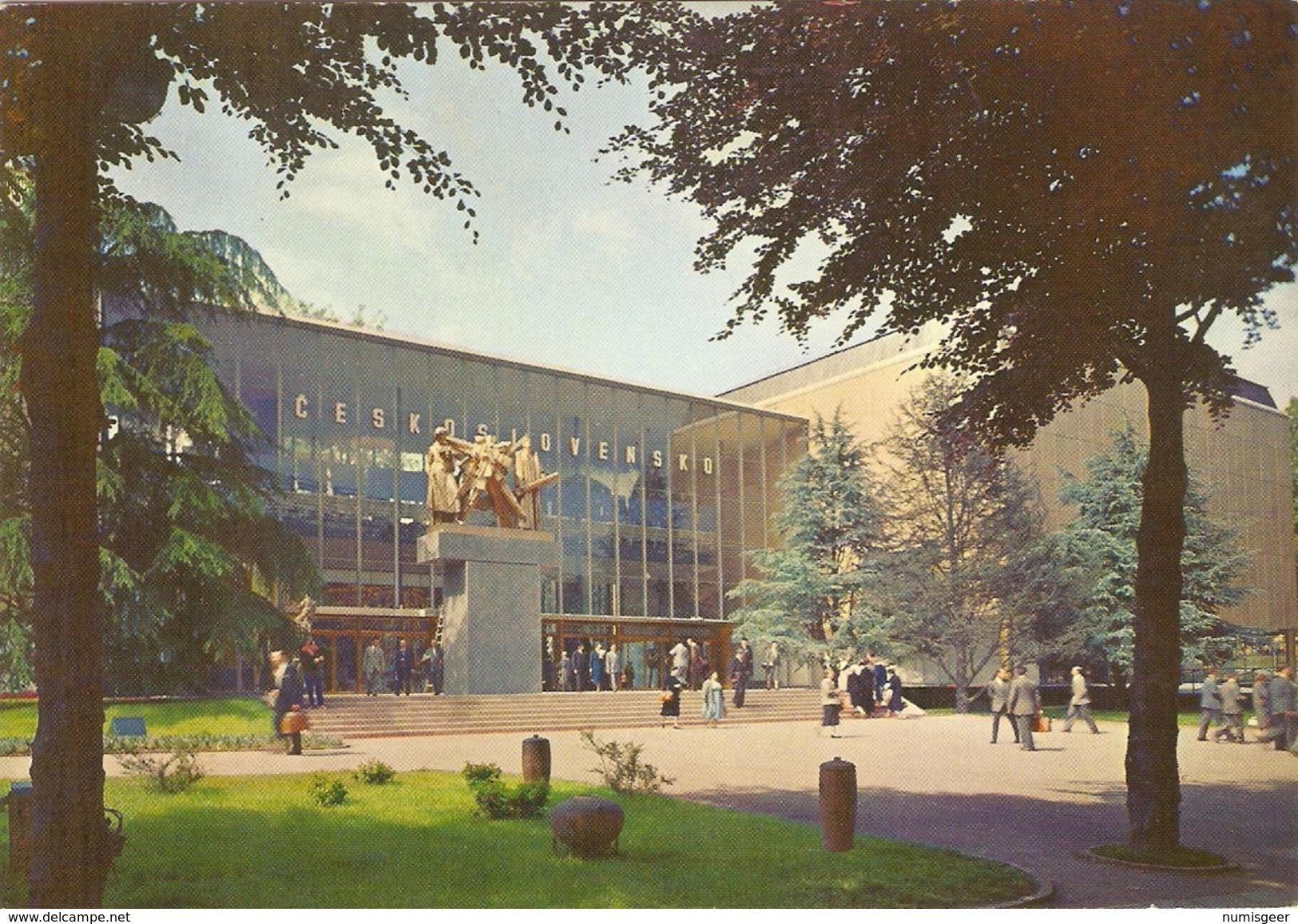 """BRUXELLES  """" EXPO 58 """"  ---   Pavillon De Tchécoslovaquie - Universal Exhibitions"""