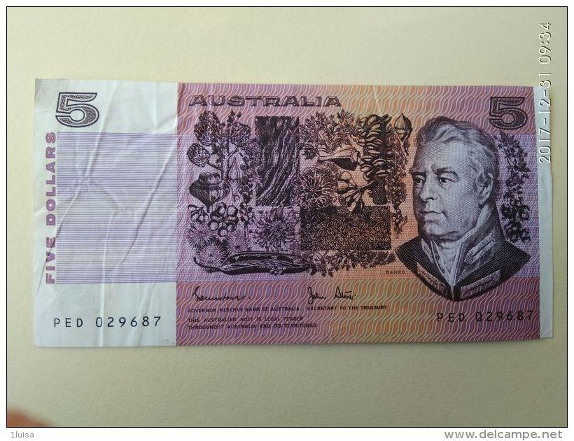 5 Dollari 1974-91 - 1974-94 Australia Reserve Bank (paper Notes)