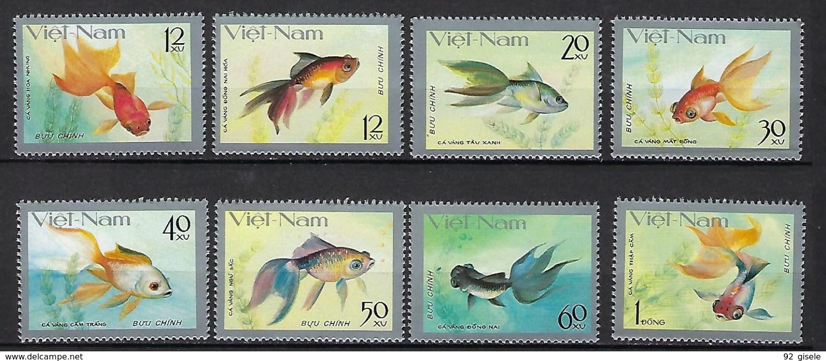 "Vietnam YT 72 à 79 "" Poissons Rouges "" 1977 Neuf** MNH - Vietnam"
