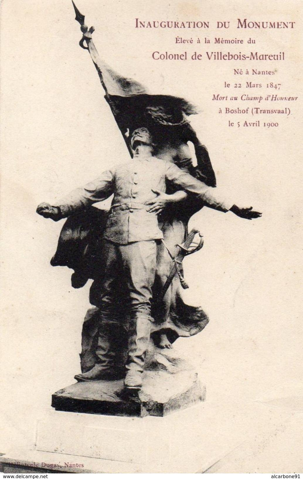NANTES - Monument à La Mémoire Du Colonel Villebois Mareuil - Nantes