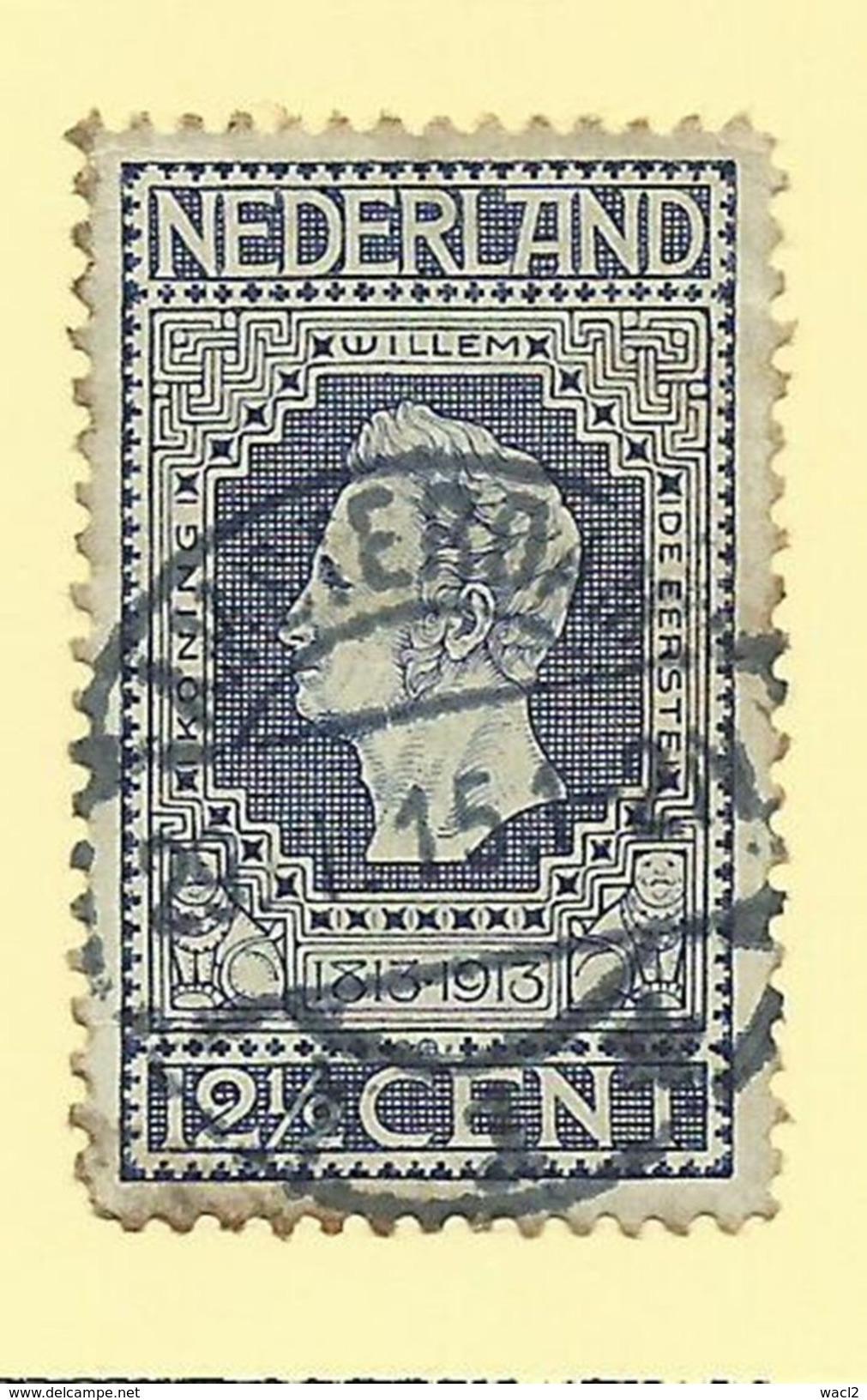 Netherlands - 1913 2 1/2c Blue - Sc#94 - GU - S.224 - Oblitérés