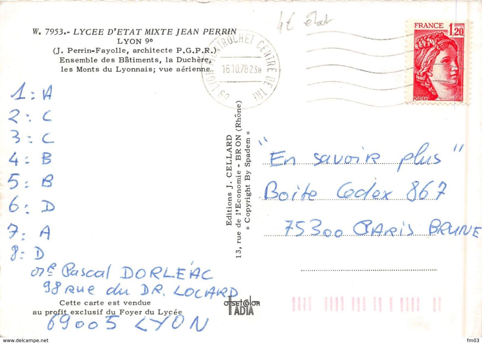 Lyon 9 Lycée Jean Perrin Saint Rambert - Lyon
