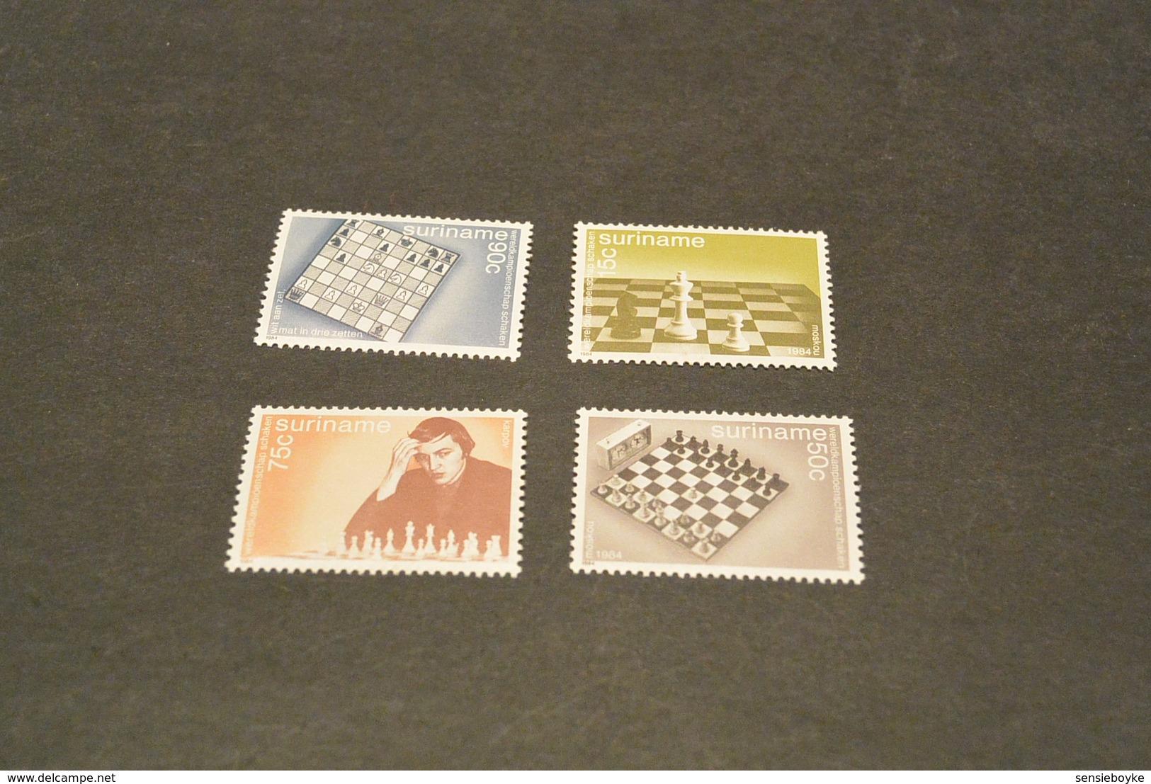 K13421- Stamps MNH Surinam - 1984-  World Chess Championship -Moscow - Schaken