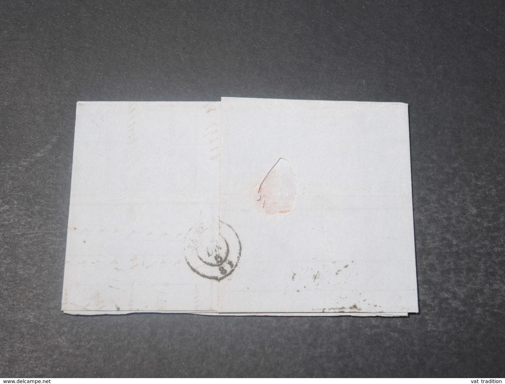 FRANCE - Lettre De Toulouse Pour Pamiers En 1856 , Affranchissement Napoléon 80c - L 10989 - 1849-1876: Période Classique