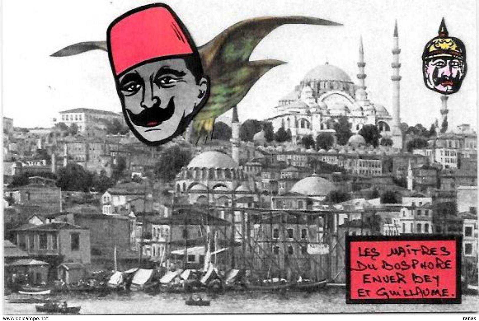 CPM Arménie Génocide Arménien Turquie Turkey Satirique Caricature Non Circulé Kaiser Enver BEY - Armenië