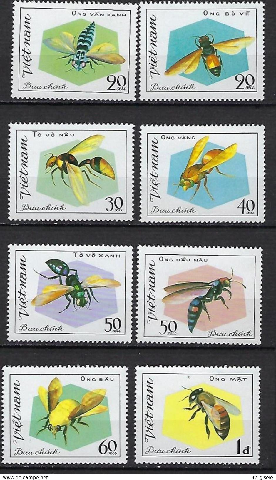 "Vietnam YT 315 à 322 "" Insectes "" 1982 Neuf** MNH - Vietnam"
