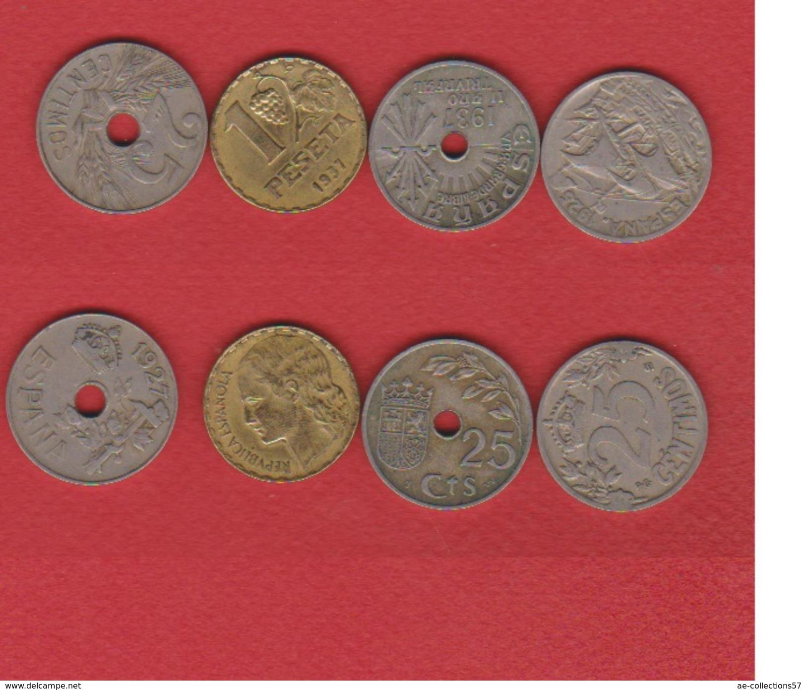 Espagne / Lot De 4 Monnaies - [ 8] Collections