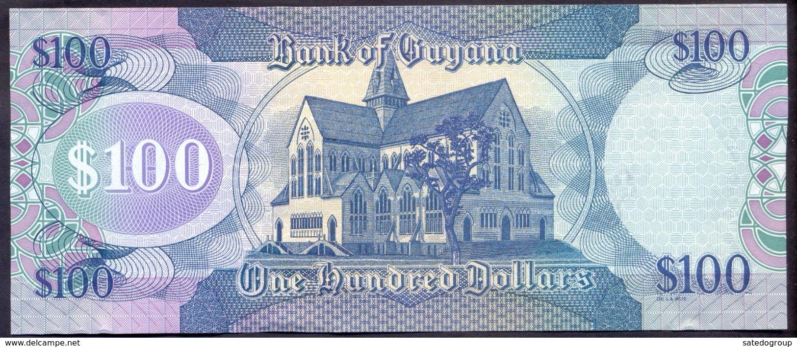 Guyana 100 Dollars 2005 UNC P-36a - Guyana