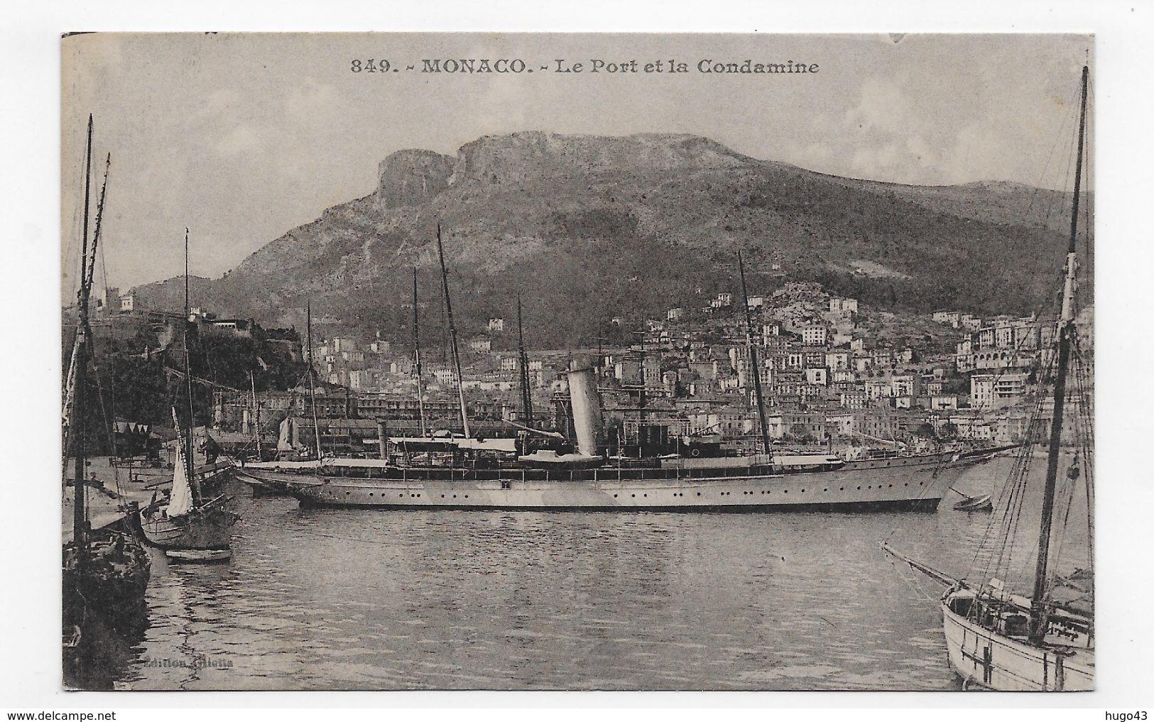 MONACO - N° 849 - LE PORT ET LA CONDAMINE AVEC SUPERBE BATEAU - CPA NON VOYAGEE - Puerto