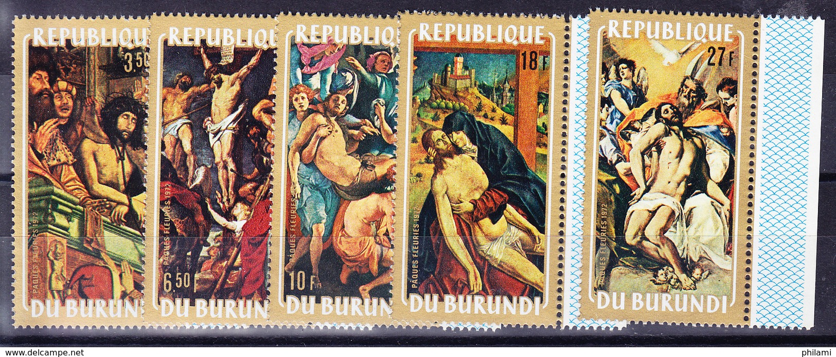 BURUNDI, COB  501/5 ** MNH. TABLEAUX, RELIGION (4Z213) - Burundi