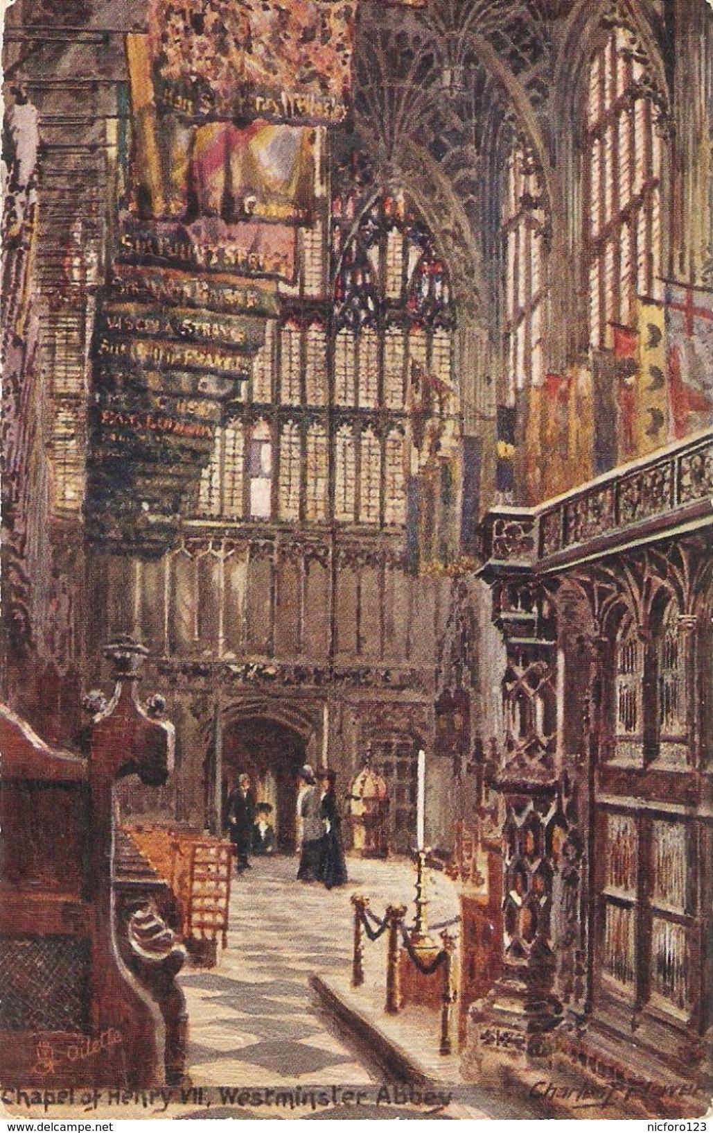 """""""Charles E.Flower. Chapel Of Henrt VII""""  Tuck Oilette PC # 7033 - Tuck, Raphael"""