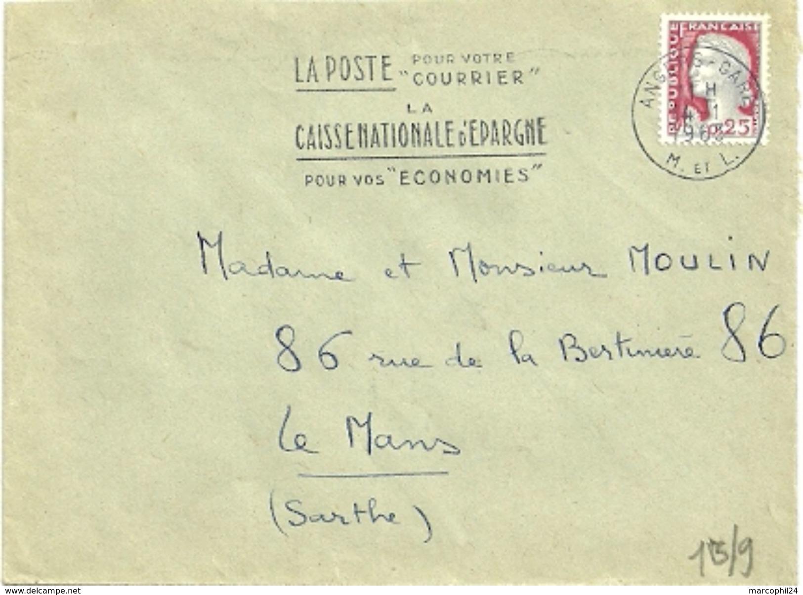 MAINE Et LOIRE - Dépt N° 49 = ANGERS GARE 1963 =  FLAMME Non Codée = SECAP  ' POSTE = COURRIER / CNE = économies - Mechanical Postmarks (Advertisement)