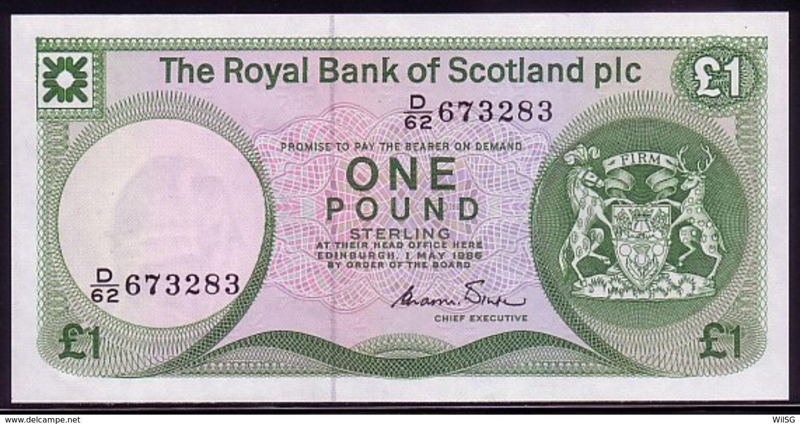 Scotland 1 Pound 01.05.1986 UNC - 1 Pound