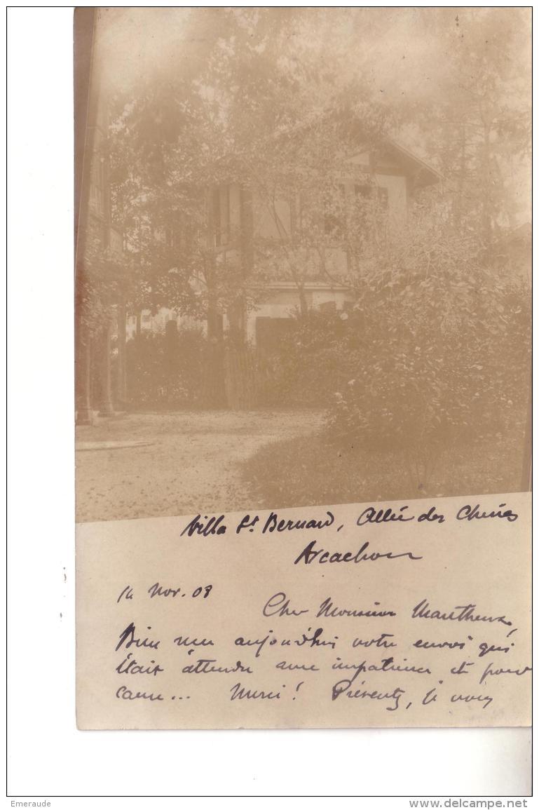 ARCACHON  Villa St Bernard ( Carte Photo ) - Arcachon