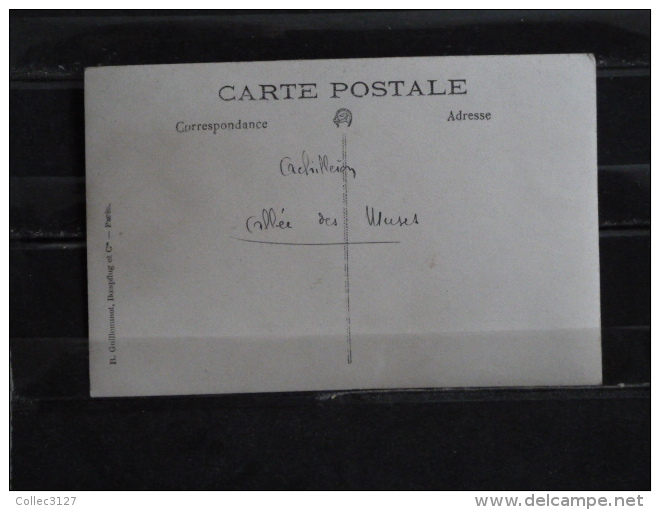 Z17 -  Corfou - Achilleion - Allée Des Muses - Carte Photo Legende Manuscrite - Grèce