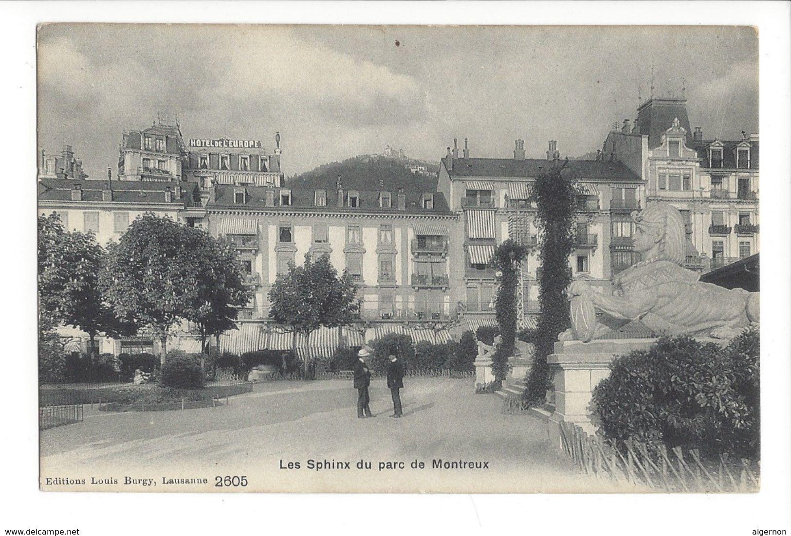 18957 - Les Sphinx Du Parc De Montreux Hôtel De L'Europe - VD Vaud