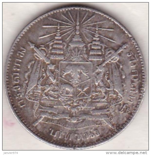 Thailande . 1 Baht ND (1876-1900) . Rama V . Argent . Y# 34 - Thaïlande
