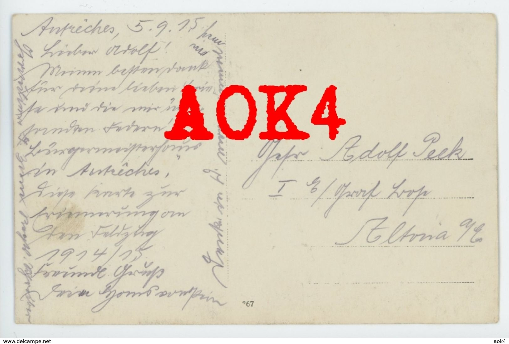60 Oise AUTRECHES 1914 1915 Maison Du Maire Ruine - France