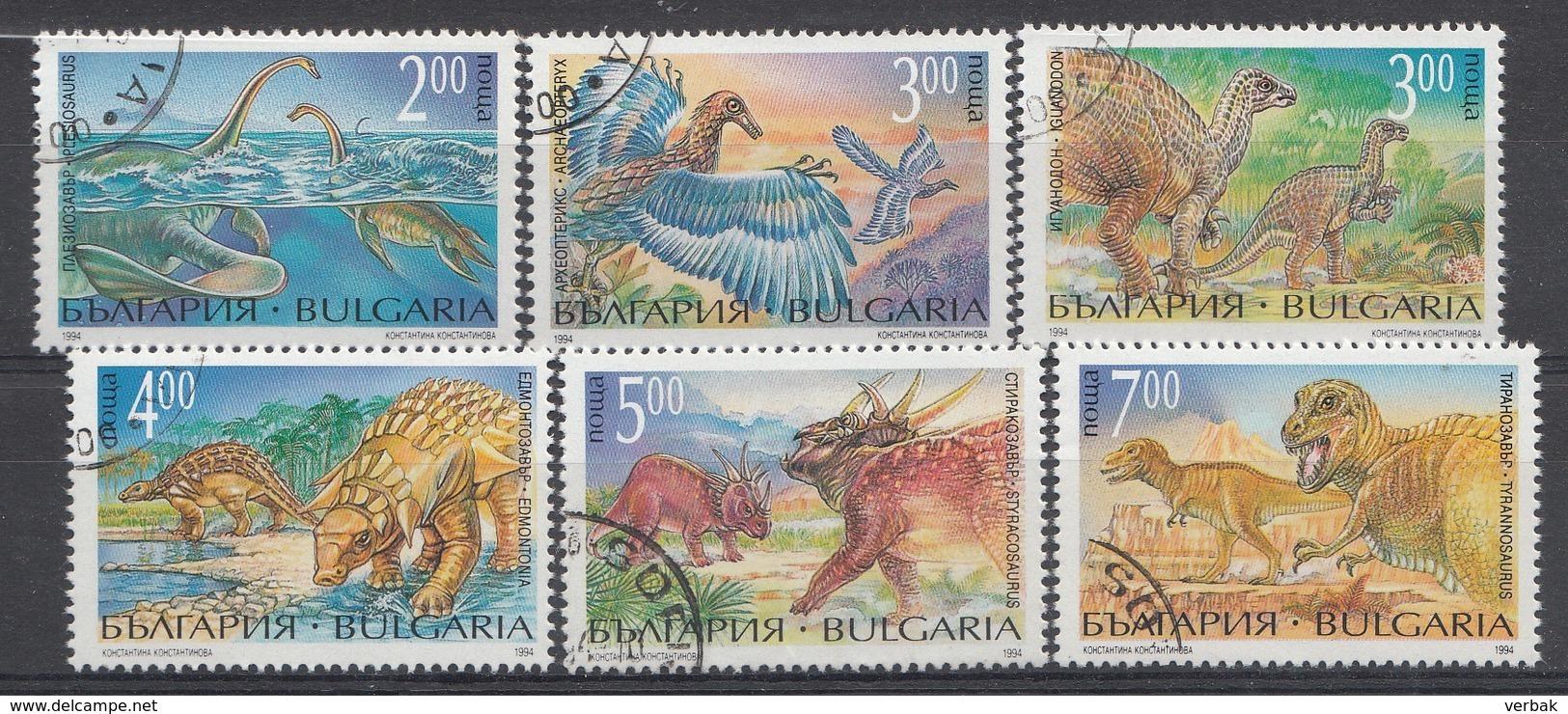 BULGARIE Mi.Nr: 4109-4114 Prähistorische Tiere  Oblitèré / Used / Gebruikt - Usati