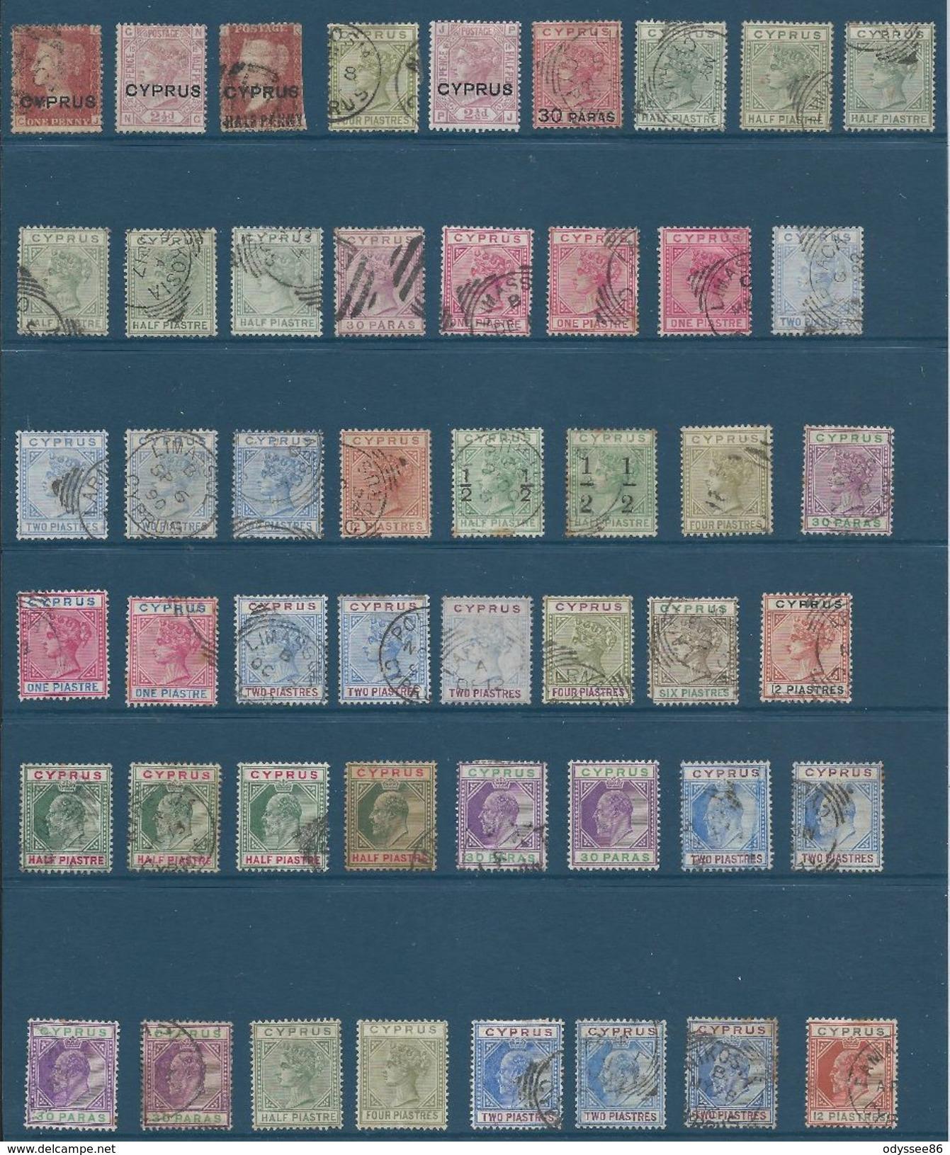 CHYPRE - CYPRUS - COLONIE Britannique - Superbe Lot Principalement Oblitéré - TTB Etat Dans L'ensemble - De Bonnes Cotes - Chypre (...-1960)